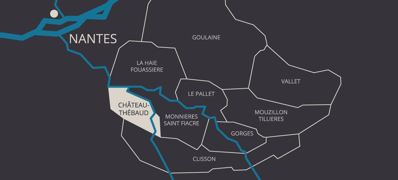 Carte des crus - A Propos - Cru Chateau Thebaud